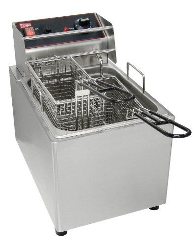 Grindmaster Cecilware El15 Countertop 2 Basket Electric Fryer 15