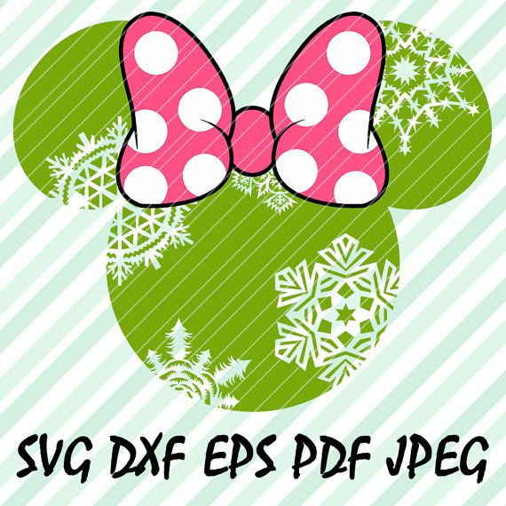 Minnie Mouse Snowflakes SVG DXF Eps Pdf Vector Cut File
