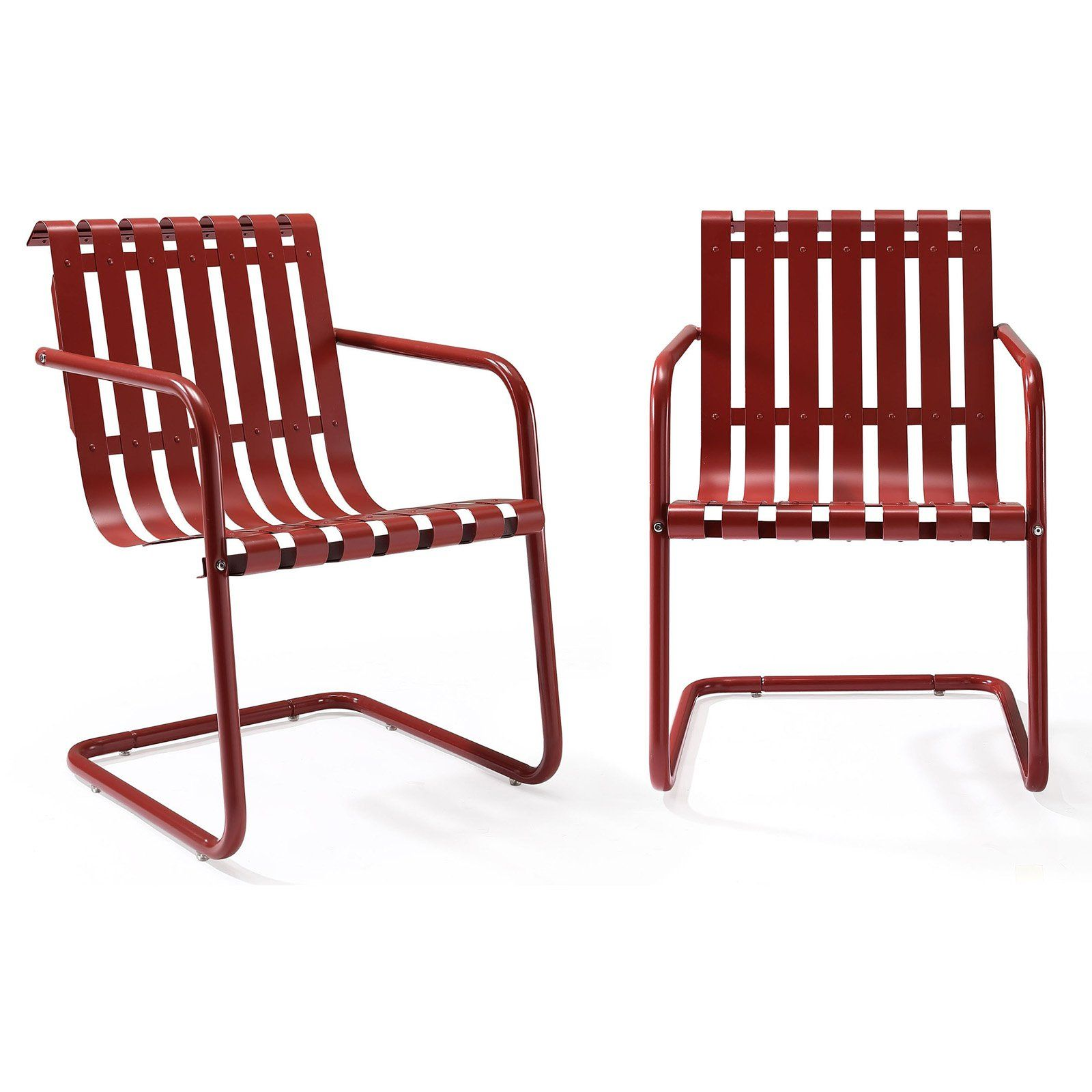 Outdoor Table And Chair Set Outdoor Crosley Furniture Gracie Patio Accent Chair Set Of 2 Red