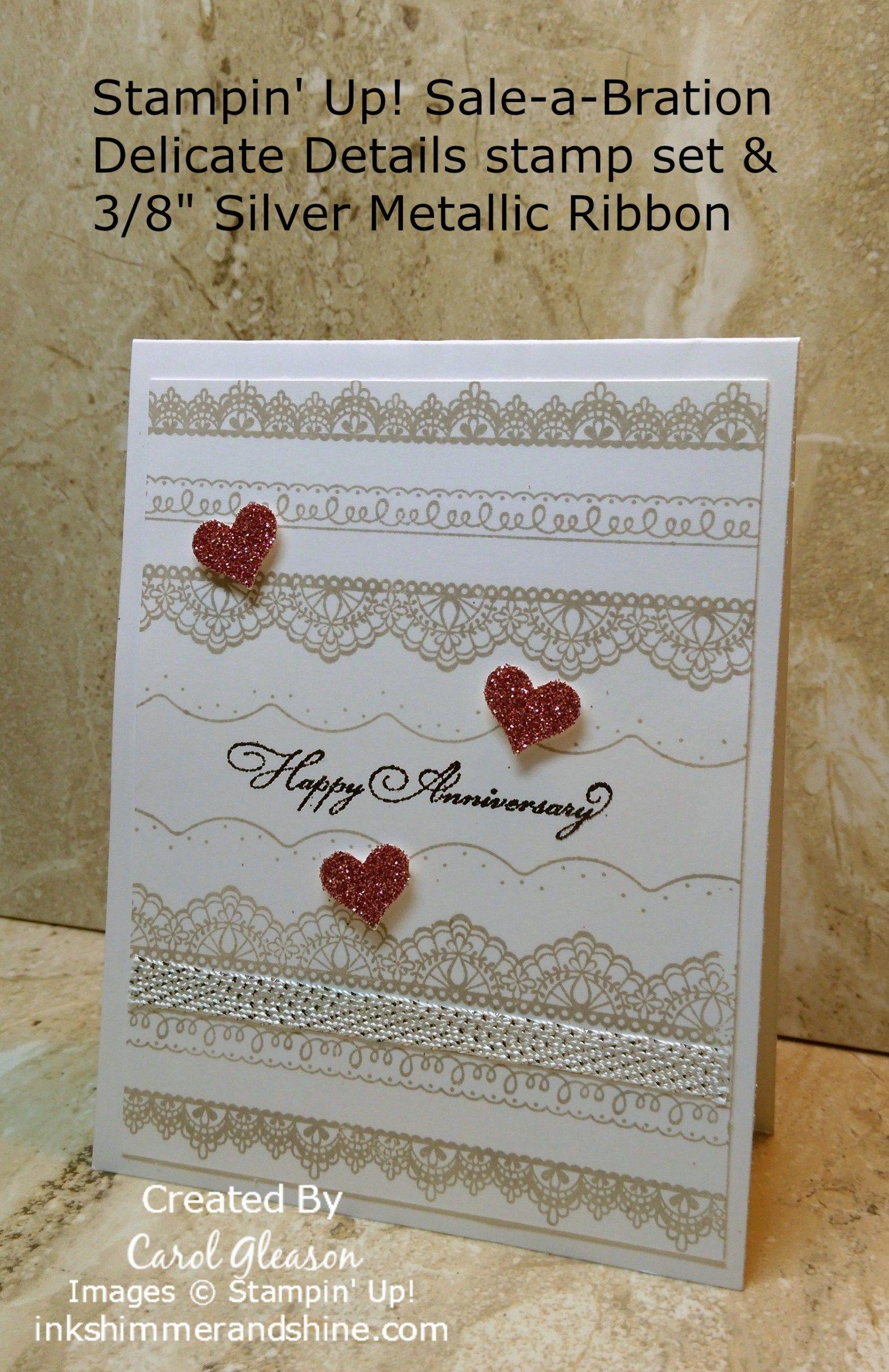 Beautiful Lace Anniversary Cards Handmade Anniversary Cards For Couple Wedding Anniversary Cards