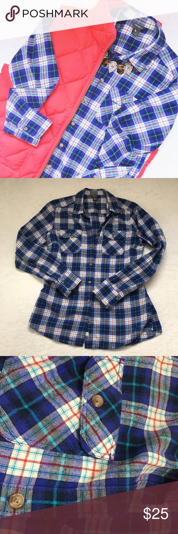 Button up flannel shirts  Eddie bauer flannel shirt  Pinterest  White plaid Front button