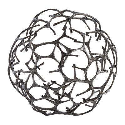 """ARTERIORS Home Tillman Sculpture Size: 12.5"""" H x 12.5"""" W x 12.5"""" D"""