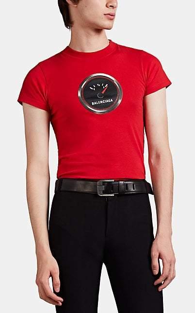 b9be54e7 Balenciaga Men's Fuel-Gauge Logo Fitted T-Shirt - Red in 2019 ...