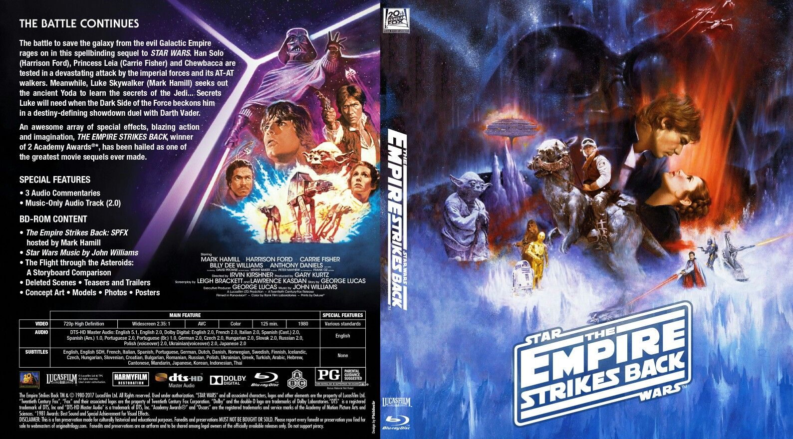 Custom blu-ray cover for The Empire Strikes Back (Despecialized