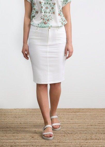 witte denim rok