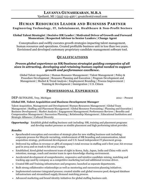 Human Resources Business Partner Resume in 2018 Pinterest