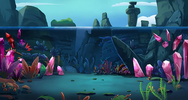 Background for a mobile game on Behance