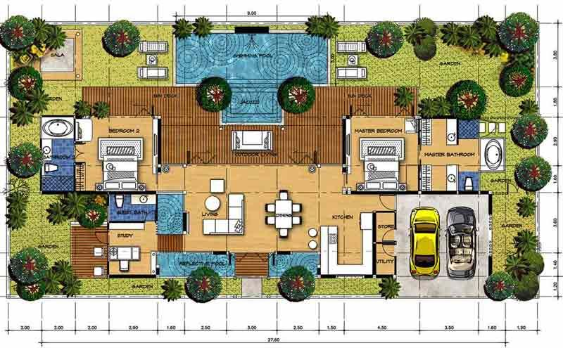 House For Sale By Owner Watergarden Villa Pool Garden Bali Style House With Images Bali Style Home Bali House House Plans