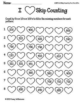 Math Printables for Valentine's Day FREEBIE Second Grade