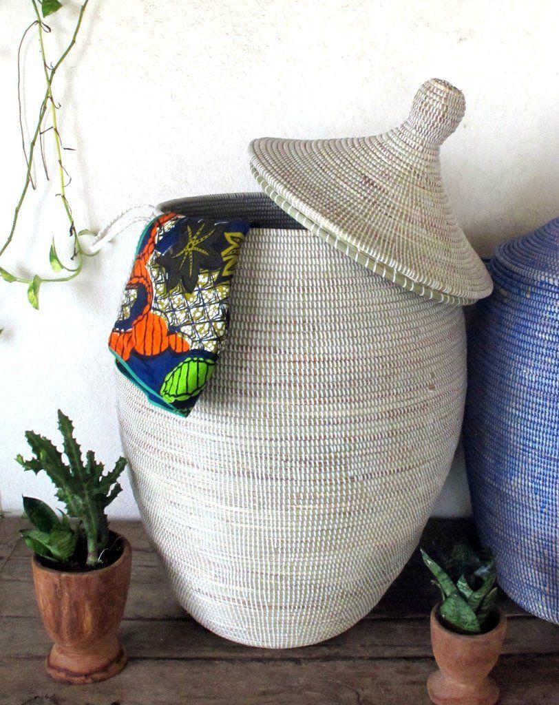 Laundry Basket Xxl In Plain White African Basket Laundry