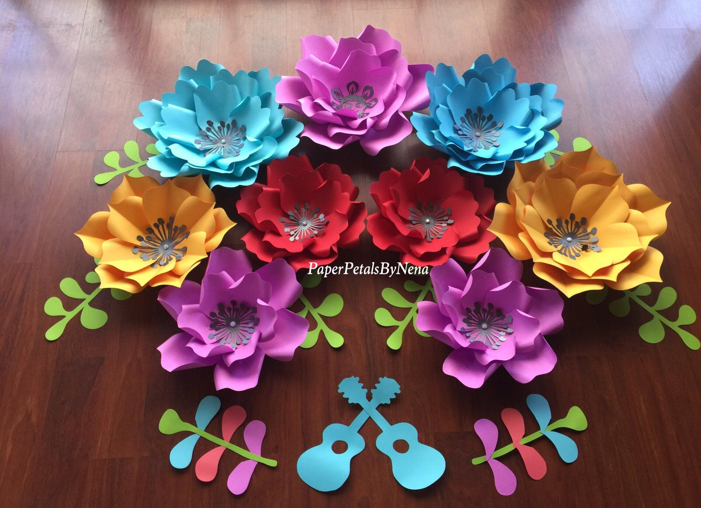 Disney Coco Inspired Paper Flowers Fiesta Paper Flower Fiesta