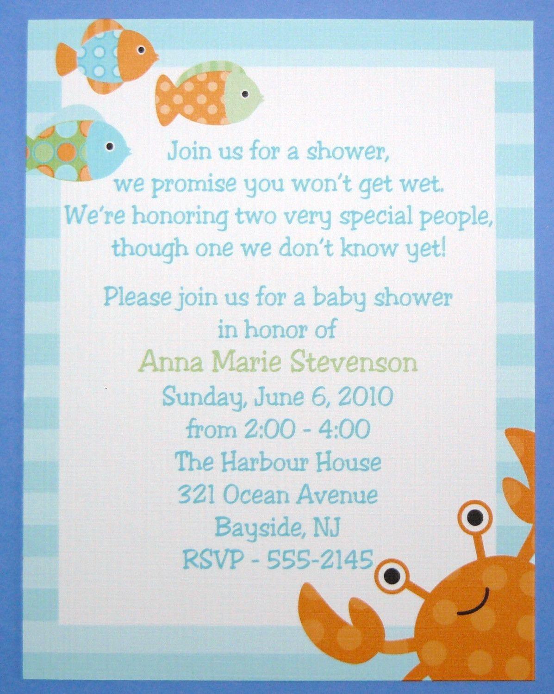 Under the Sea Birthday - First 1 2 3 4 5 6 - Baby Shower Invitation ...