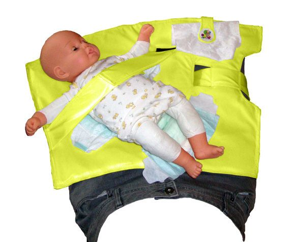 Stop getting on the floor or running out to your car!!!  Yellow Nifty Swifty Snap  Standing Diaper Changer by SwiftySnap, $39.95
