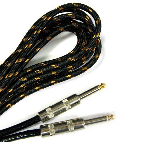 Guitar Cable 25 Ft Braided Cloth Cable Metal Ends 1 4 By Sky 16 99 The Well Made Braided Construction Will Keep You With Images Guitar Cable Musical Instruments Guitar