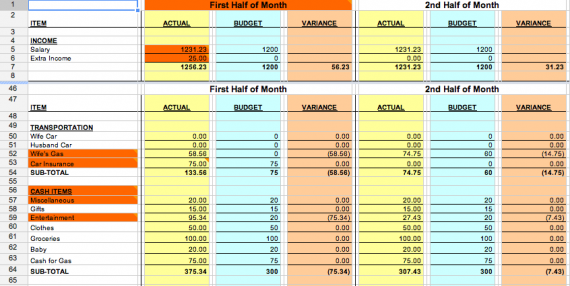 this is a free budgeting tool done in excel. keep track of your ...