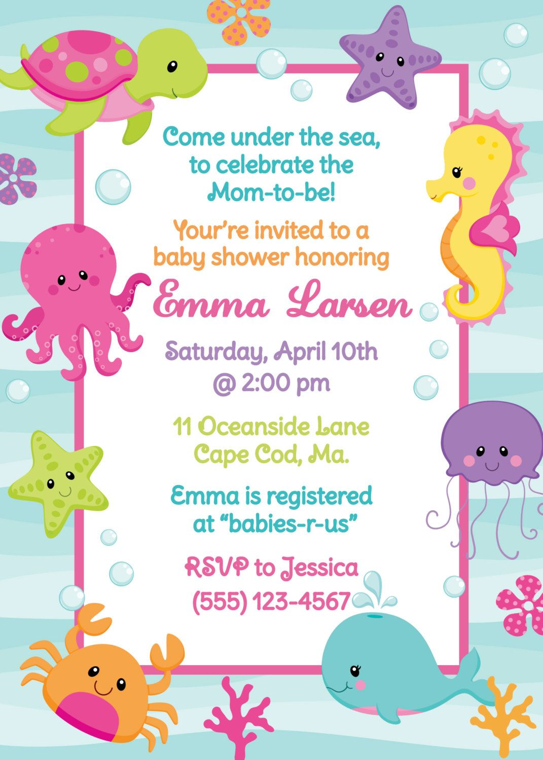 Under The Sea Shower Invitation