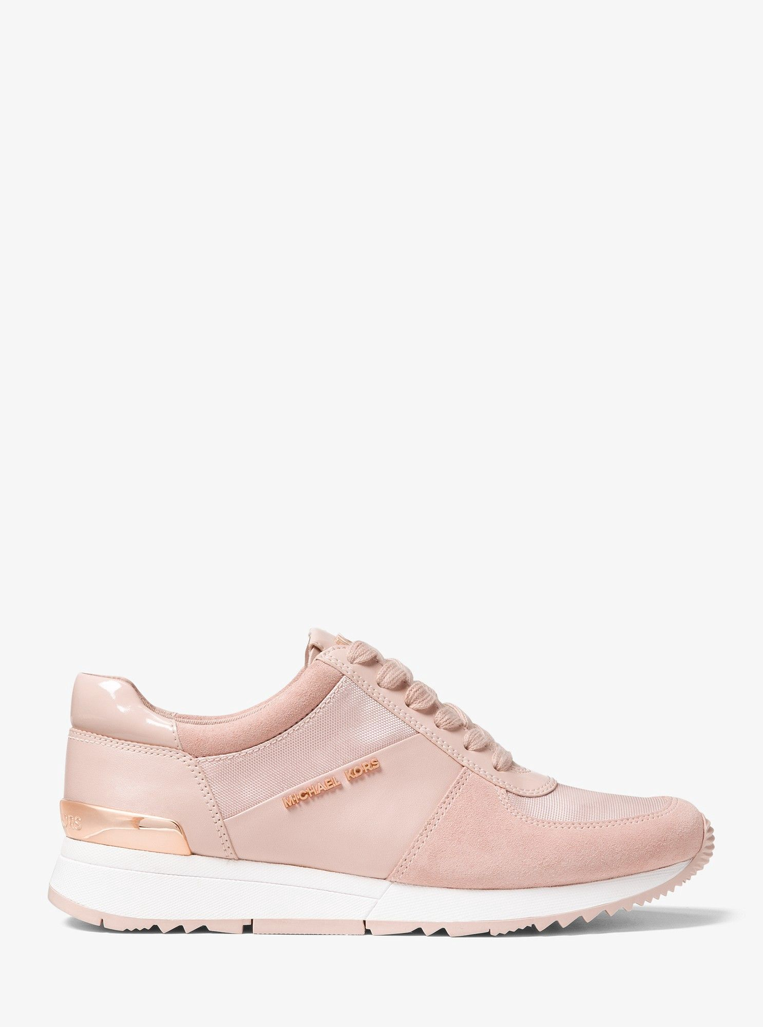 7cb946ed3558de Allie Leather and Canvas Sneaker by Michael Kors in 2019