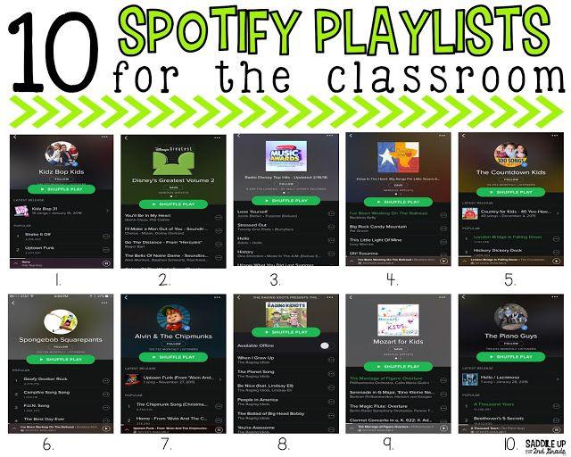 Elementary Classroom Playlist ~ Spotify playlists that every classroom needs