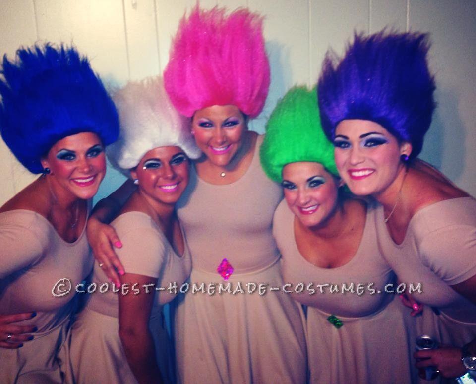 Fun Treasure Trolls Group Costume | Carnavales, Ideas para disfraces ...