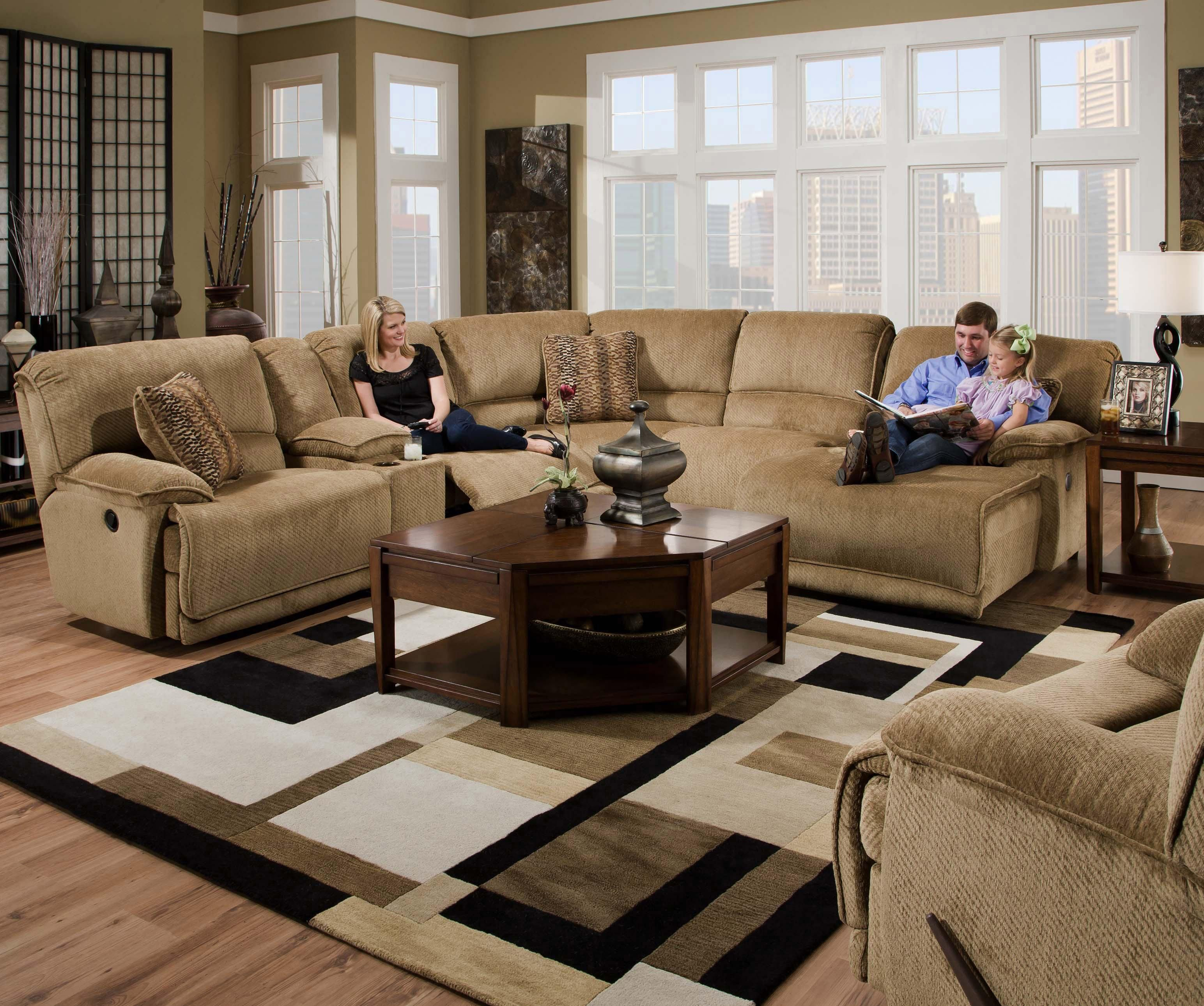 Grandover 5 Person Sectional with Right Chaise by Catnapper