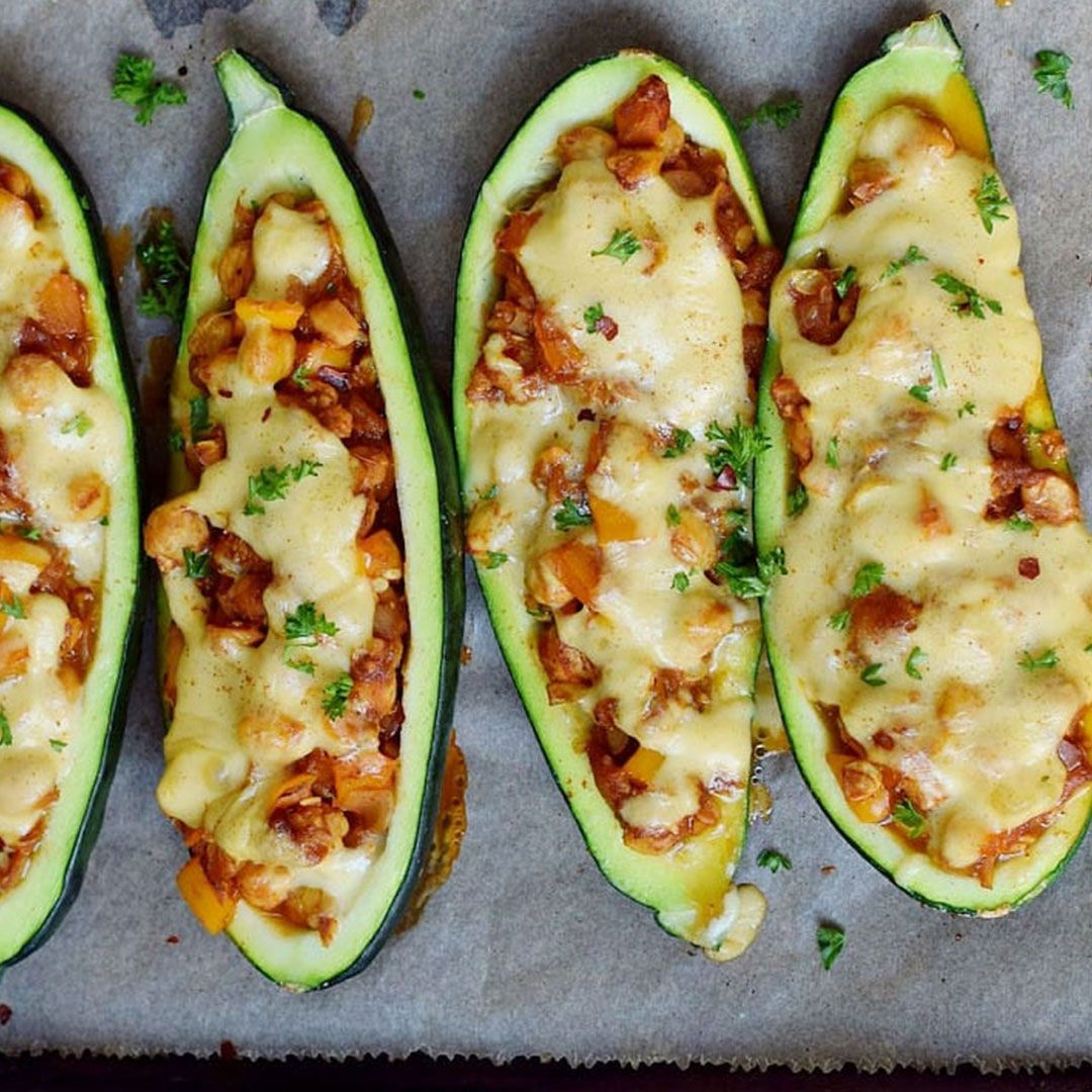Stuffed Zucchini  These stuffed zucchini boats are filled with a hearty sausage mixture, then topped with plenty of cheese and baked to perfection.  Recipe:  Picture Credits: hellotofitness   #vegan #veganfood #veganrecipes #veganismo #vegans #vegano #veganfoodspot #veganmeals #veganism #veganhealth #letscookvegan #veganfoodshare #veganlife #veganfit #veganbowl #vegantreats #glutenfree