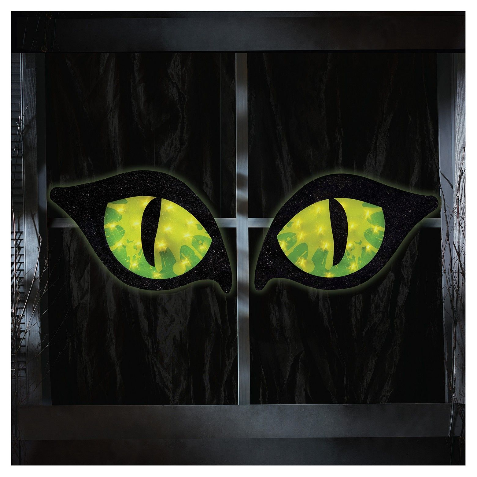 28in Halloween Lighted Green Cat Eyes Hyde & EEK Boutique