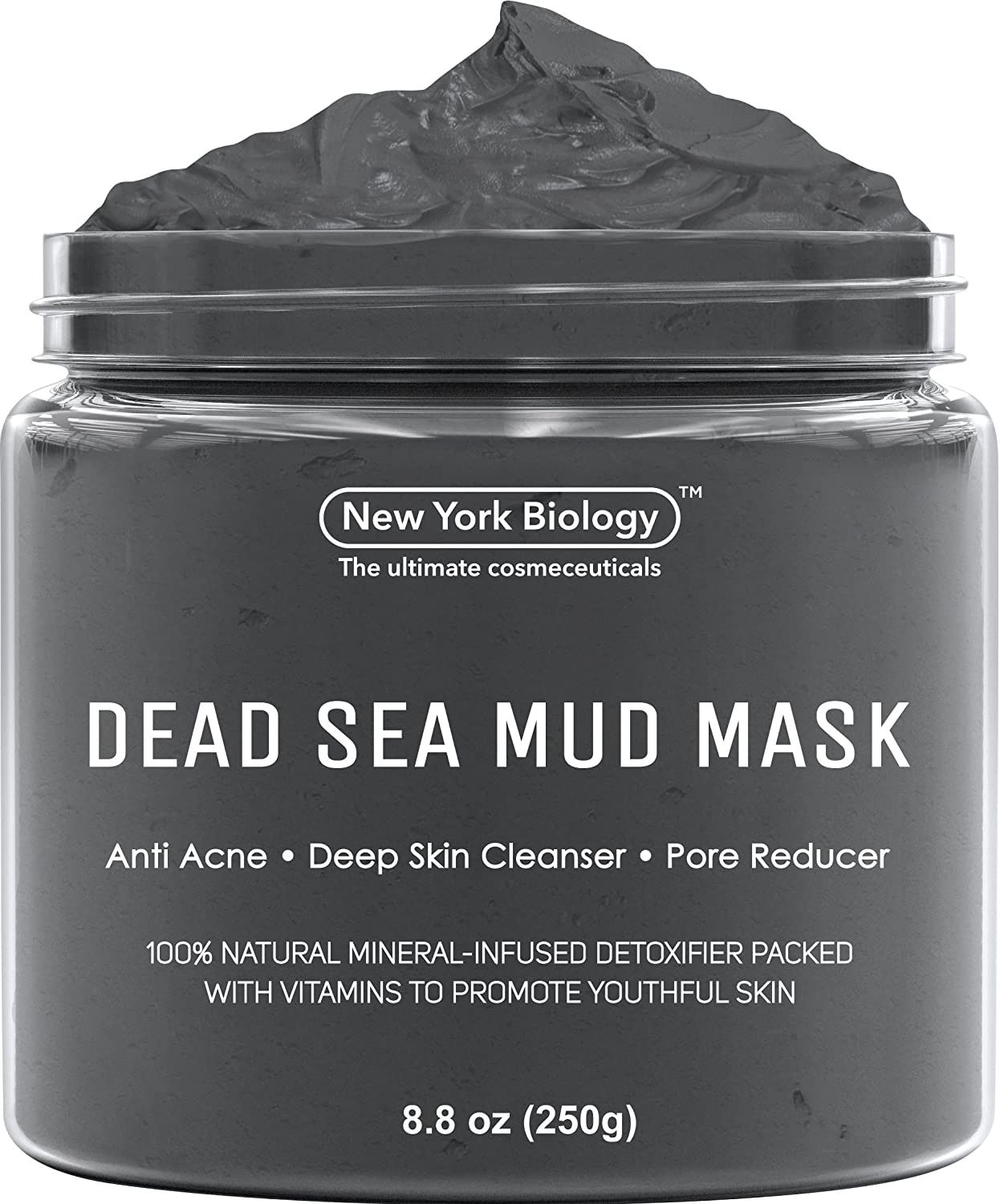 Photo of New York Biology Dead Sea Mud Mask for Face and Body – Makeup Natural