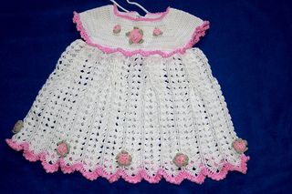 Free Crochet Pattern For Toddler Summer Dress : Free Little Princess Summer Dress with Roses Crochet ...
