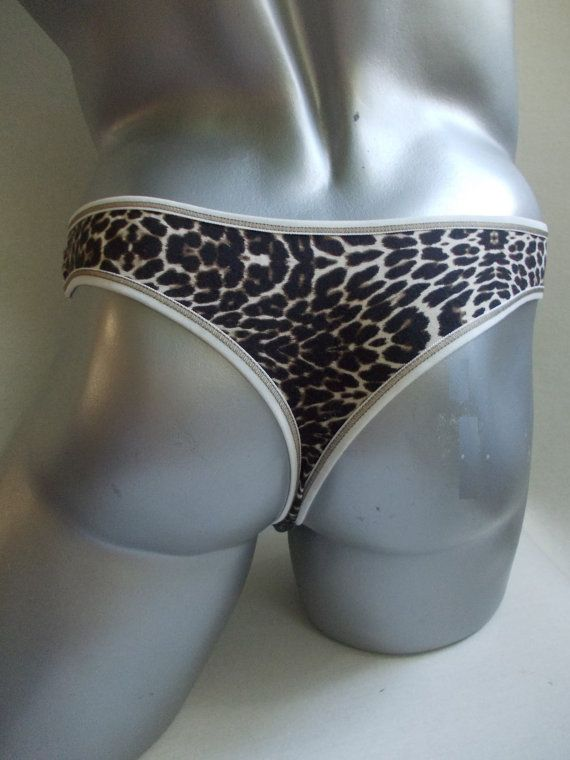 sexy men's thong leopard underwear low waistmens bamboo animal print thong low cut back cheetah print g-string panther underwear for men