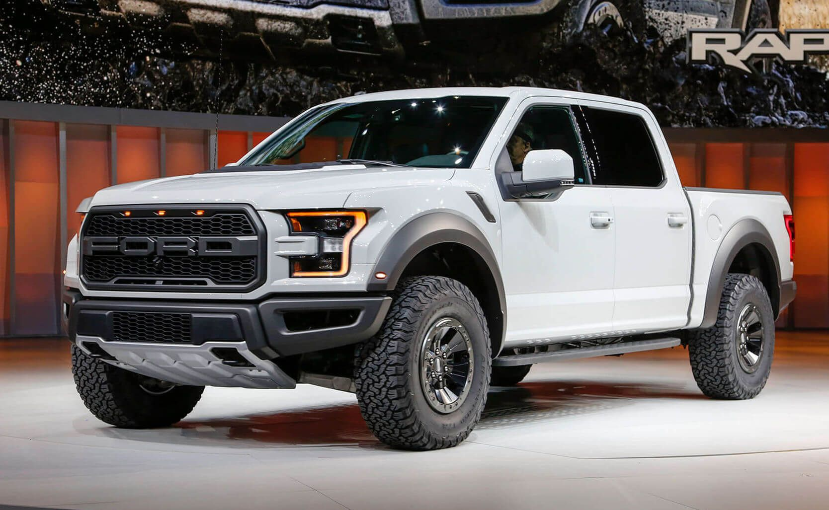 2017 ford raptor silver 22x9 5 dub 6six wheels in brushed double dark tint 35x12 50r22 nitto terra grappler g2 215580 traxda 2 25 front le