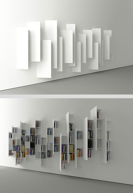 Bookshelves Design ctline bookshelf designedvictor vasilev. from a particular
