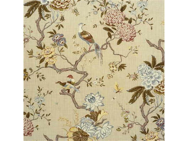 R1398 4 Oriental Bird Olive Stone By G P J Baker Upholstery