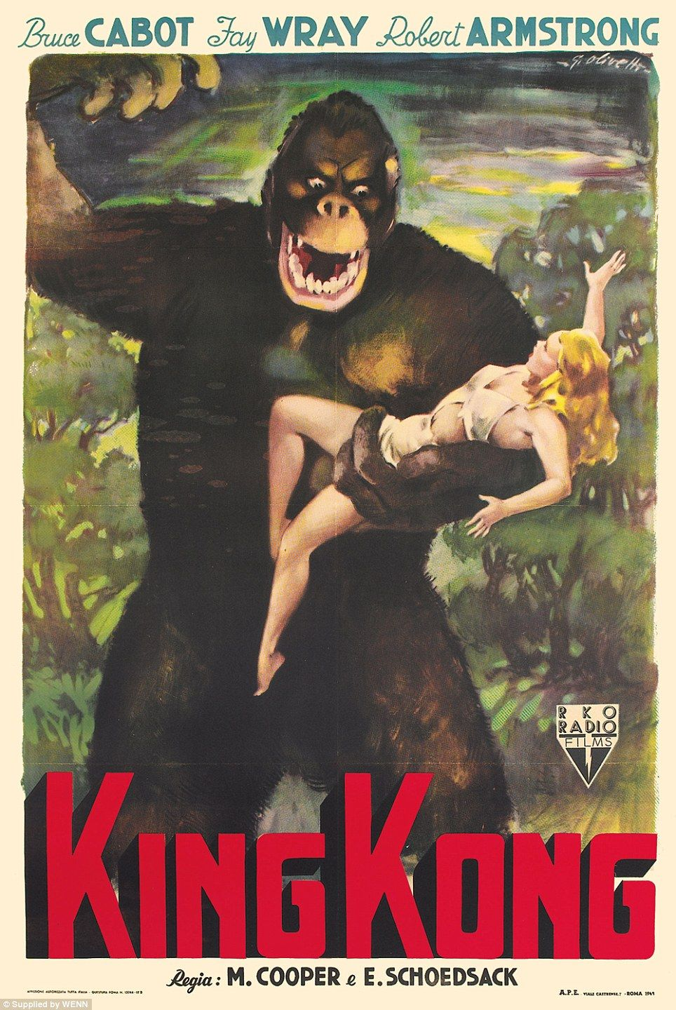 Twas Beauty Killed The Beast But How Much Will They Both Sell For Monsters And Maidens Film Poster Collection Being Auctioned King Kong Movie King Kong King Kong 1933