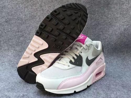 Nike Air Max 90 Womens Shoes Pink Black White Mesh
