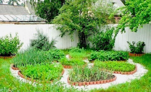 circular vegetable garden design raised garden beds patio garden