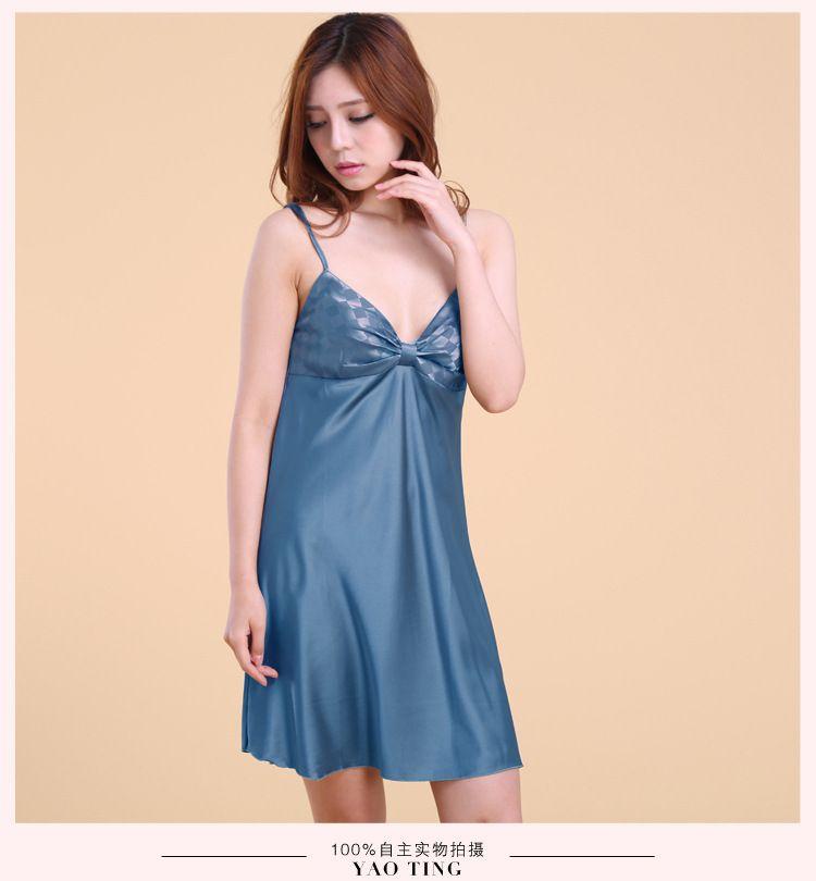 d9a407f0853b Ladies Sexy Silk Satin Night Dress Sleeveless Nighties V-neck Nightgown  Plus Size Nightdress Lace Sleepwear Nightwear For Women   Nice plus size  clothing ...