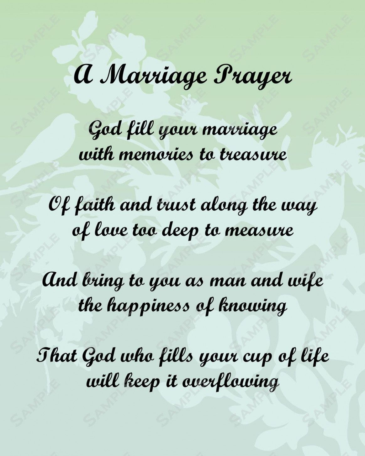 Wedding Day Poems For Bride: Wedding Day Prayer For Bride