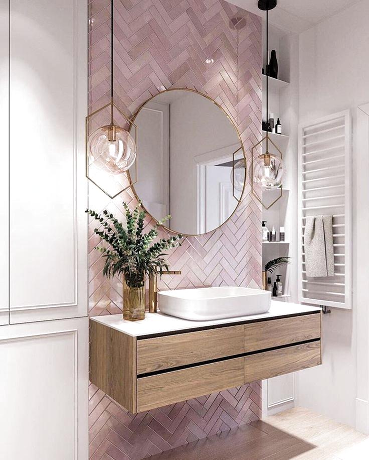Gorgeous Pink Tile In 2020 Bathroom Interior Design Pink Bathroom Tiles Bathroom Interior