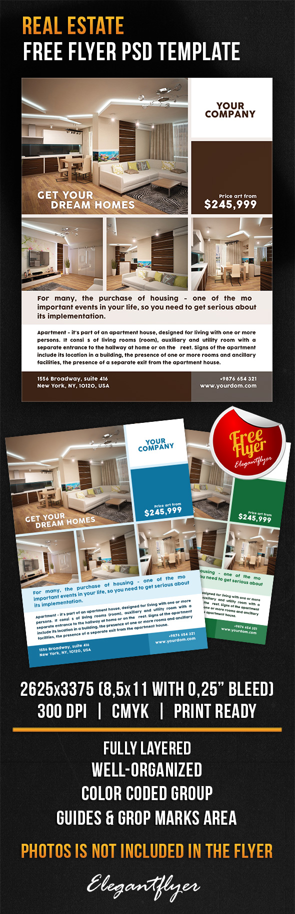 Real Estate  Free Flyer Psd Template HttpsWwwElegantflyerCom
