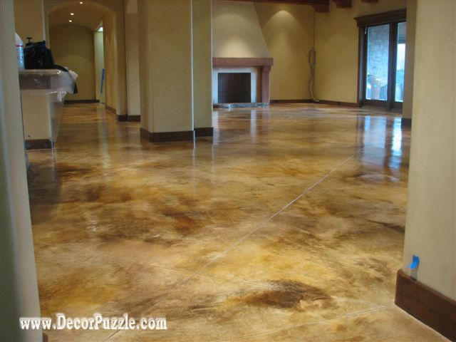 Types Of Painted Concrete Floors And