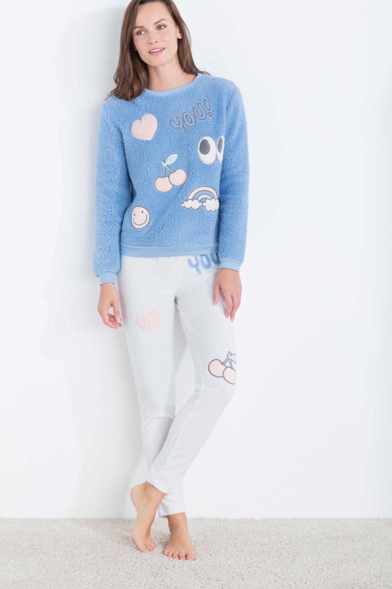 6fb56a816 Pijama largo polar  You!  in 2019
