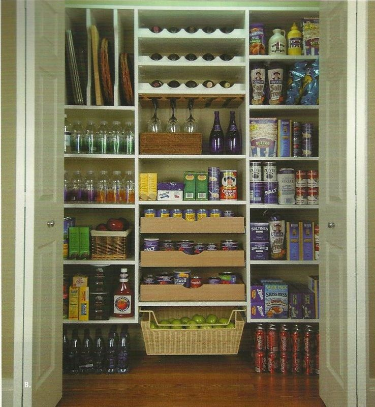 "Effective Pantry Shelving Designs For Well Organized: Well-organized Pantry From ""Pantry Storage"""