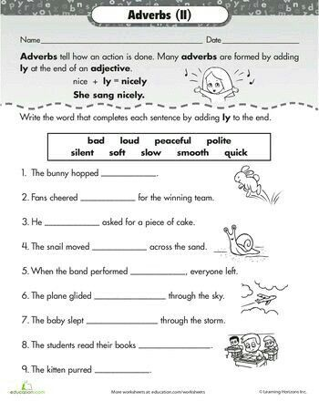 Pin By Enas Talaat On English Learning Adverbs Worksheet Adverbs Teaching Writing Adverbs worksheet 3rd grade