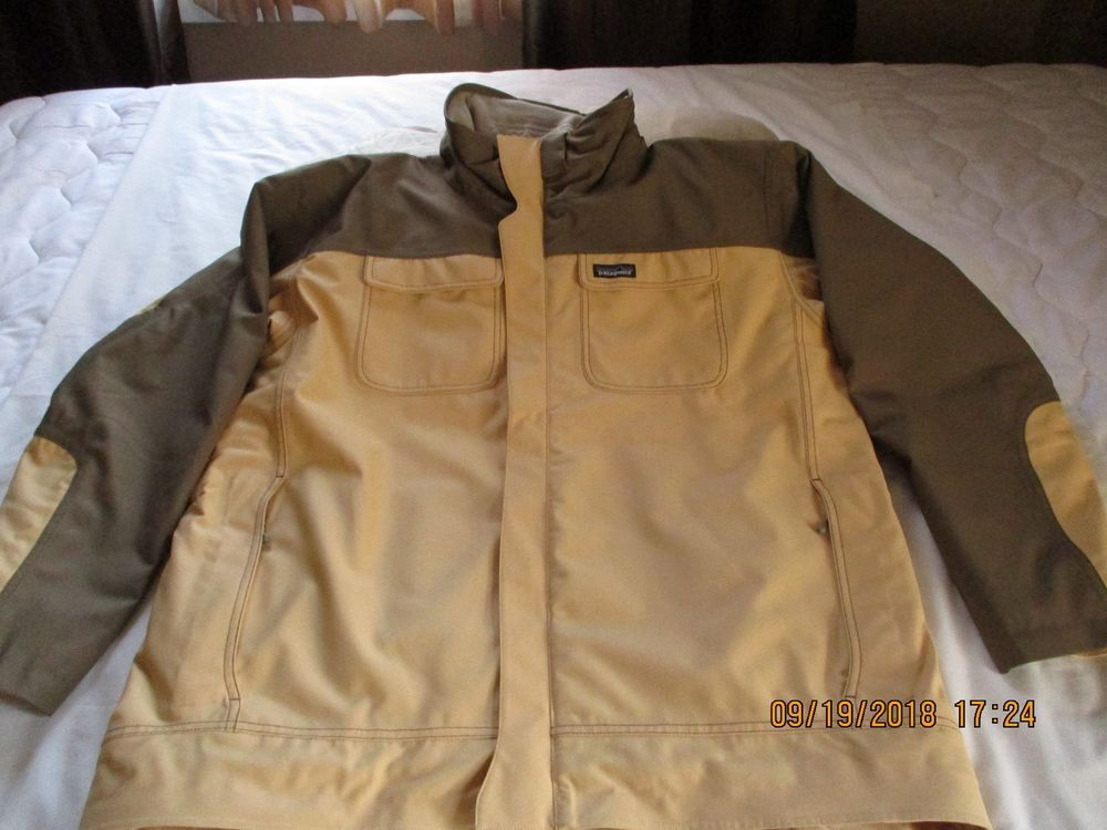 PATAGONIA MEN S JACKET SIZE XL BUFF COLOR WITH BROWN ACCENTS  fashion   clothing  shoes  accessories  mensclothing  coatsjackets  ad (ebay link) 6b2e244db