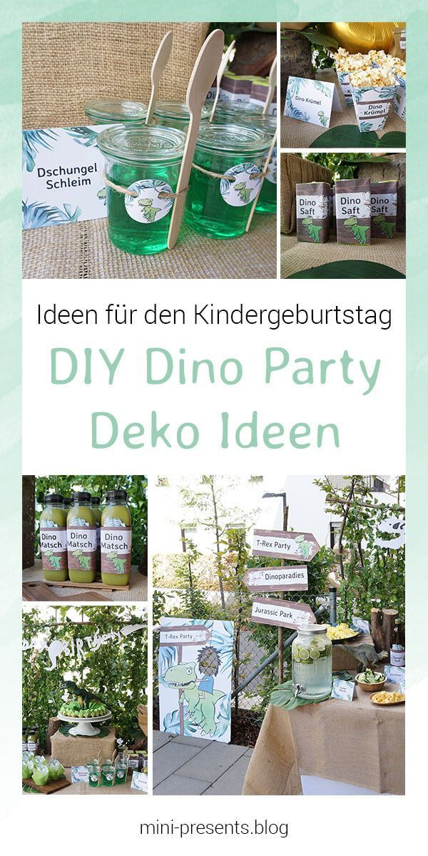 Do-it-yourself Party Deko für eine Dino Party zum Kindergeburtstag | mini-presents Blog