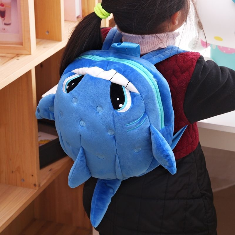 Personalized Whale Fish-shaped Cute Animal Toddler Small Book Bag ...