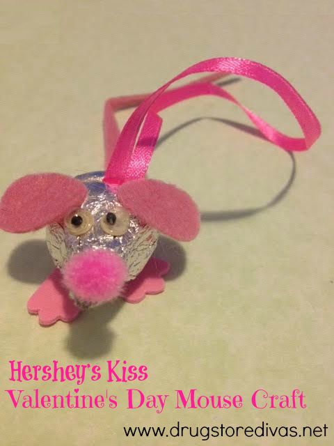 Hershey S Kiss Valentine S Day Mouse Craft Craft Ideas Pinterest