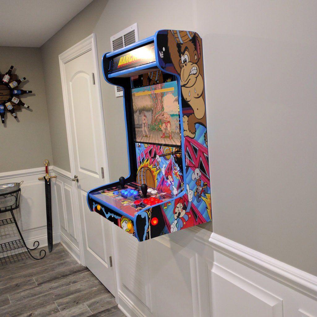 Wall Mounted Arcade Cabinet Petagadget Game Room Decor Arcade Room Arcade Game Room