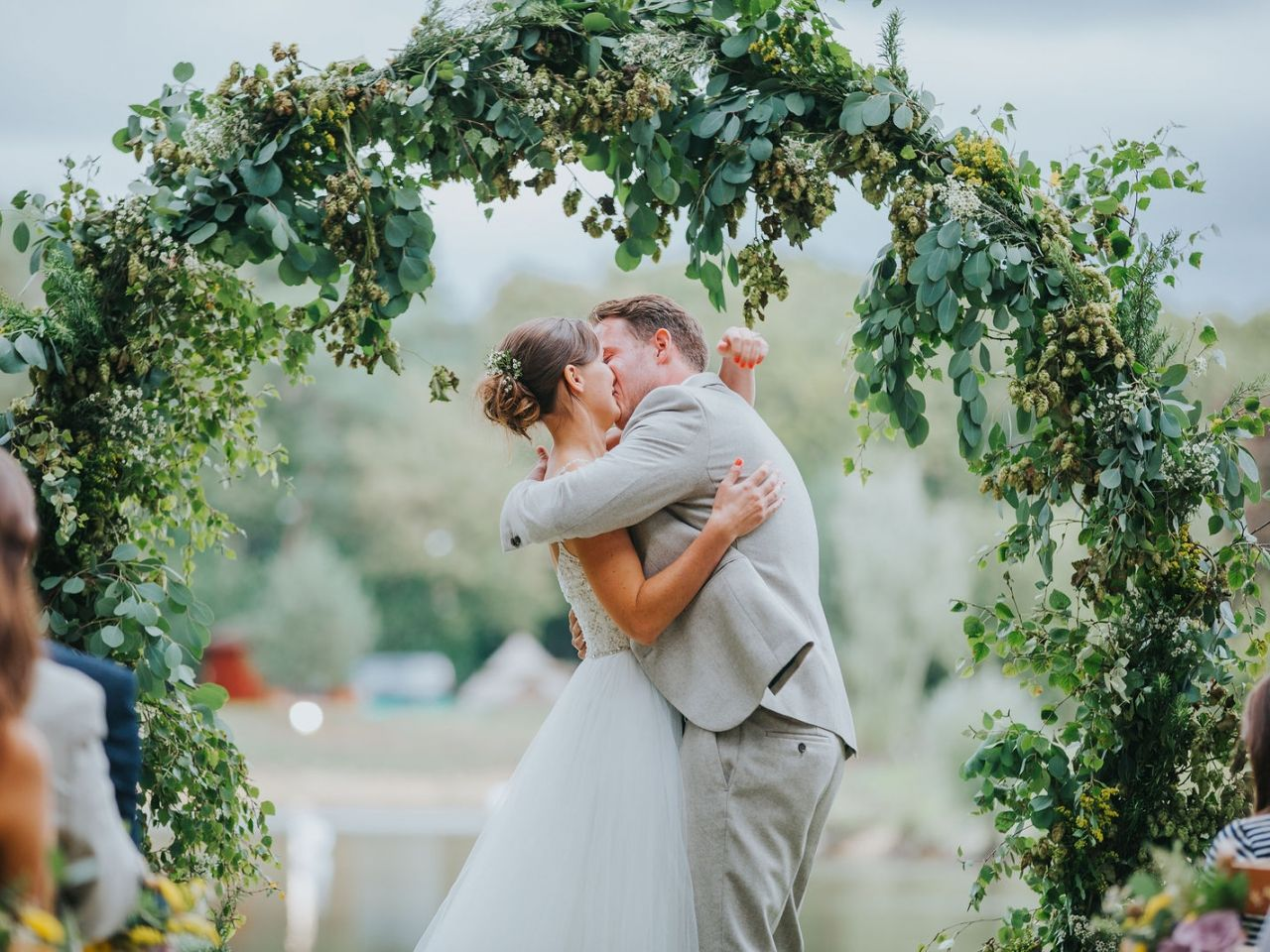 Eucalytous, foliage, hops, moongate, sopley lake, ceremony