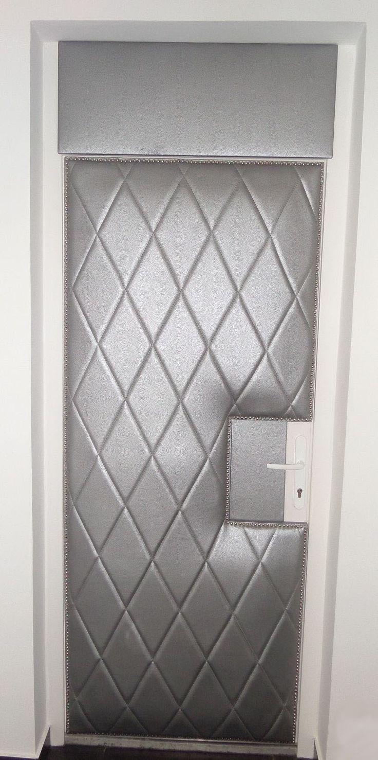 Silver colored diamond door trim. Plastic front door for ……